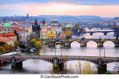 Old town and the bridges, Prague, Czech Republic