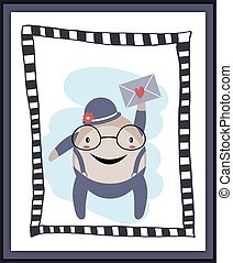 Humpty Dumpty with heart envelope card
