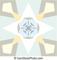 Pastel colored background with abstract ornament Seamless...