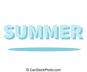Summer lettering with drop shadow. Graphic element for your...