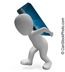 Credit Card Indicates Paying Illustration And Banking 3d...