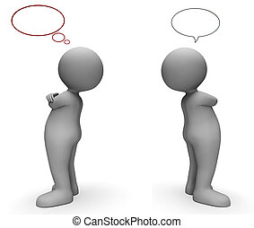 Speech Bubble Shows Copy Space And Annoyed 3d Rendering -...