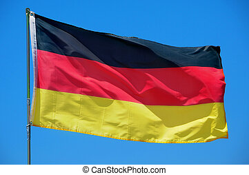 flag of Germany waving on the wind - the flag of Germany...