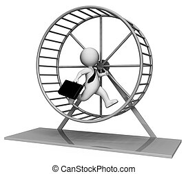 Hamster Wheel Shows Mind Numbing And Boring 3d Rendering -...