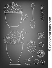 Hand drawn ice cream