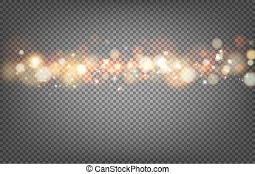 Soft bokeh and lights Shiny sunburst of circle bokeh with...
