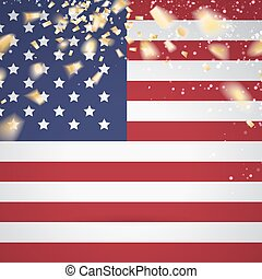 Red white and blue flag - Red white and blue flag with party...