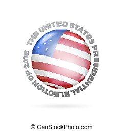 Red, white and blue flag. - Red, white and blue flag on ball...