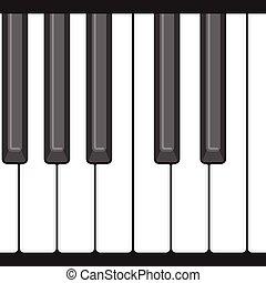 圖案, 鋼琴,  seamless, 八音度, 鑰匙