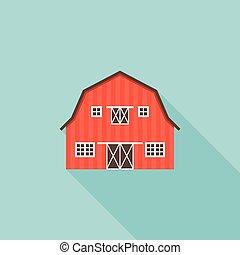 Red Barn Doors Clip Art eps vector of wooden barn door. vector image for design