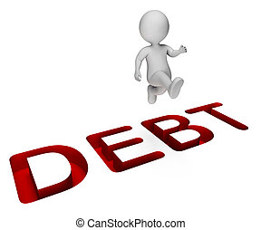 Character Debt Shows Climb Over And Indebtedness 3d...