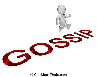 Overcome Character Indicates Spreading Rumours And...