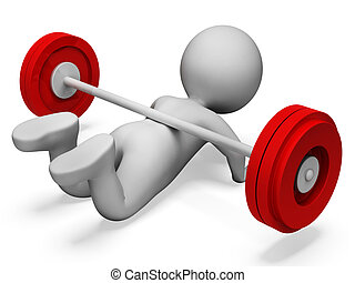 Gym Weak Shows Physical Activity And Complication 3d...