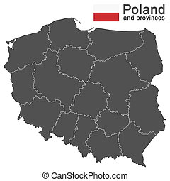 country Poland and voivodeships - european country Poland...