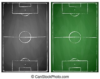 abstract gray and green soccer fields - abstract gray and...