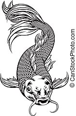 Koi Carp Fish - An original illustration of a koi carp fish...