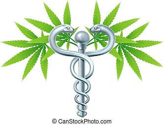 Medical Marijuana Cannabis Caduceus - A medical marijuana...