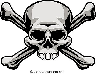 Skull and Crossbones - A skull and crossbones illustration...
