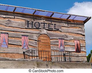 Old western Wild West hotel