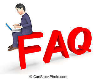 Character Faq Shows Frequently Asked Questions And Advice 3d...