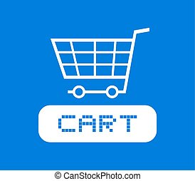 blue cart icon