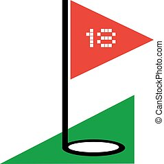 golf icon - Creative design of golf icon