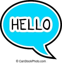 hello icon - Creative design of hello icon
