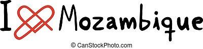 Mozambique love icon - Creative design of Mozambique love...