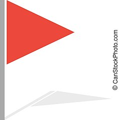red flag - Creative design of red flag