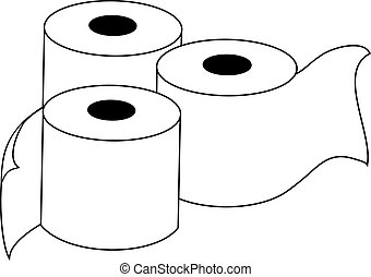 toilet paper illustration - Creative design of toilet paper...