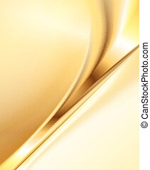 Abstract gold background, elegant wavy vector illustration