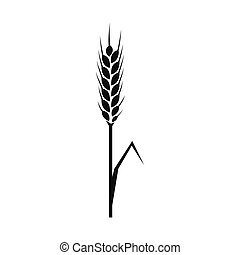 Rye ear icon, simple style - Rye ear icon in simple style on...