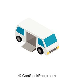 Transport for the disabled icon isometric 3d style -...