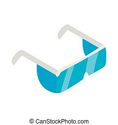 Safety glasses icon, isometric 3d style - Safety glasses...
