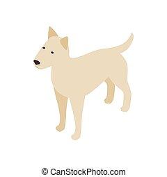 Pitbull dog icon, isometric 3d style