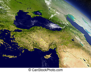 Turkey from space - Turkey with surrounding region as seen...