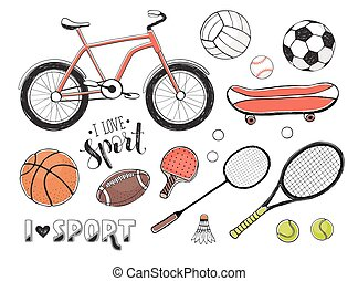 sport equipment collection - Collection of vector sport...