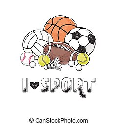 Sport balls collection - I love sport illustration....