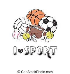 Sport balls collection - I love sport illustration....