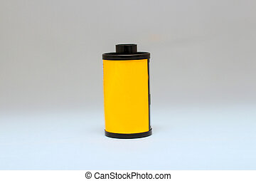 Roll of Film on White Background
