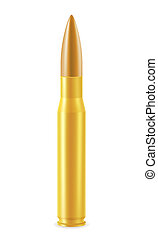 ball cartridge with a bullet illustration isolated on white...