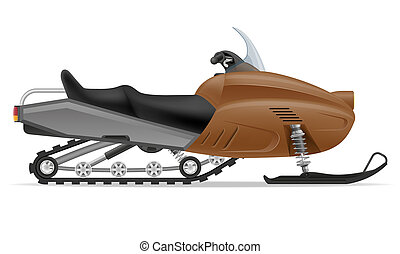 snowmobile for snow ride illustration isolated on white...
