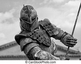 guerreira, armadura, Verona, Itália, 2004