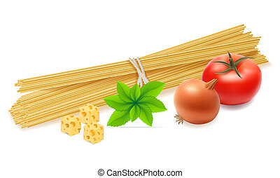 pasta with vegetables illustration