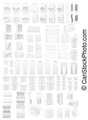 white packing big set icons illustration isolated on...