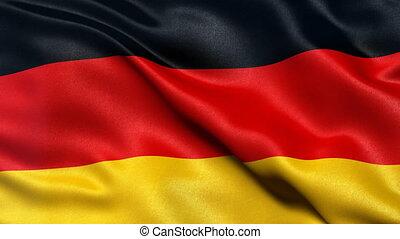 Germany Flag Seamless Loop