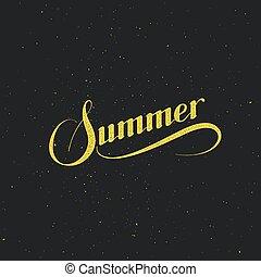 handwritten Summer retro label - vector typographic...