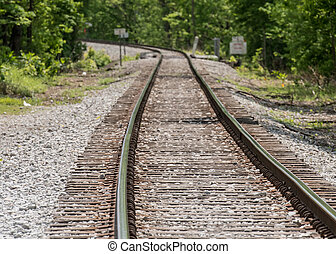 Train Track Curves to the Left