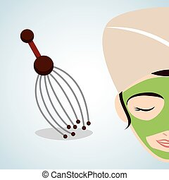 Spa center design health icon Isolated illustration ,...