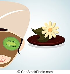 Spa center design. health icon. Isolated illustration ,...